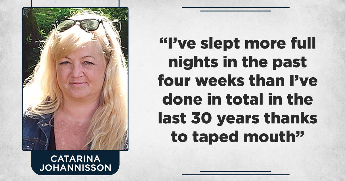 I have slept more full nights in the past four weeks than I've done in the last 30 years!