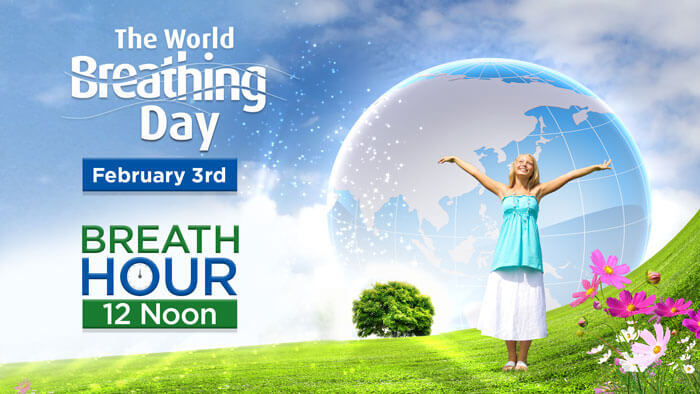 Breath Hour at 12:00 (noon) February 3rd