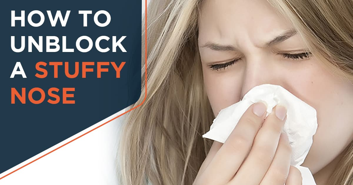 How to unblock a stuffy nose