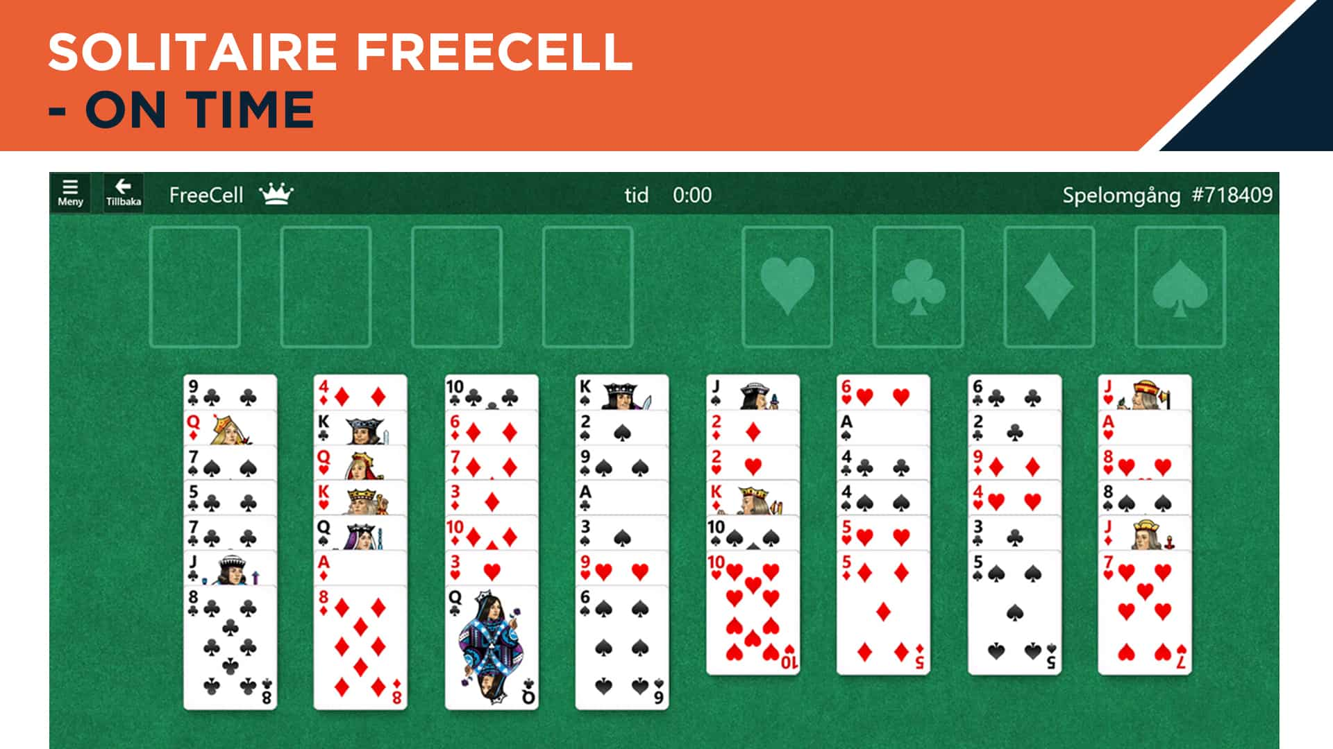 Solitaire Freecell - on time