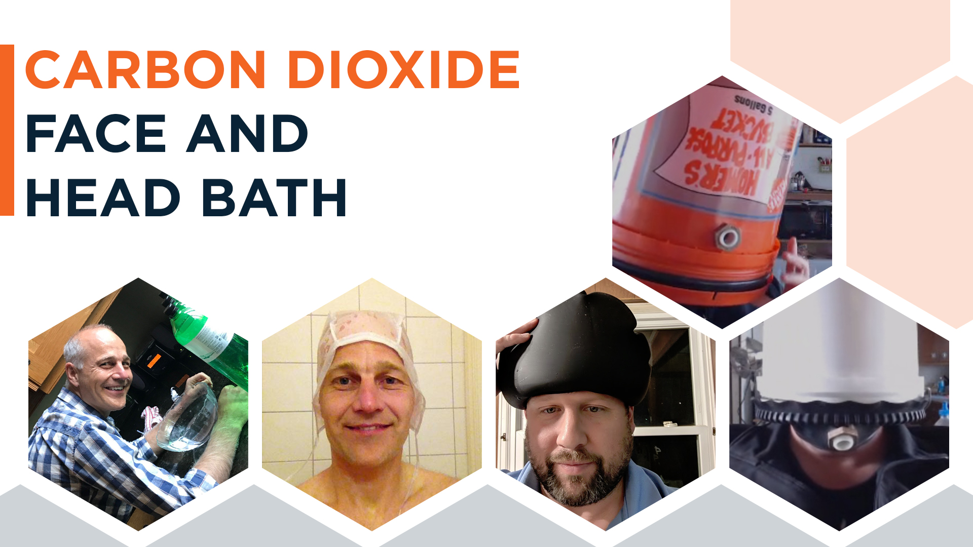 Make your own facial and head bath with carbon dioxide